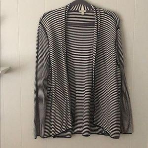 Talbots black and white stripe cardigan XL